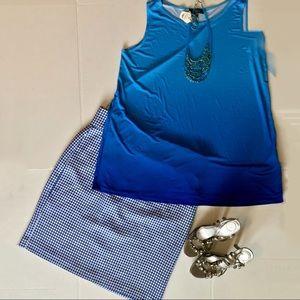 Isabella DeMarco Tahari Levine Houndstooth Skirt